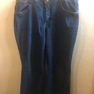 Just My Size dark wash stretchy jeans